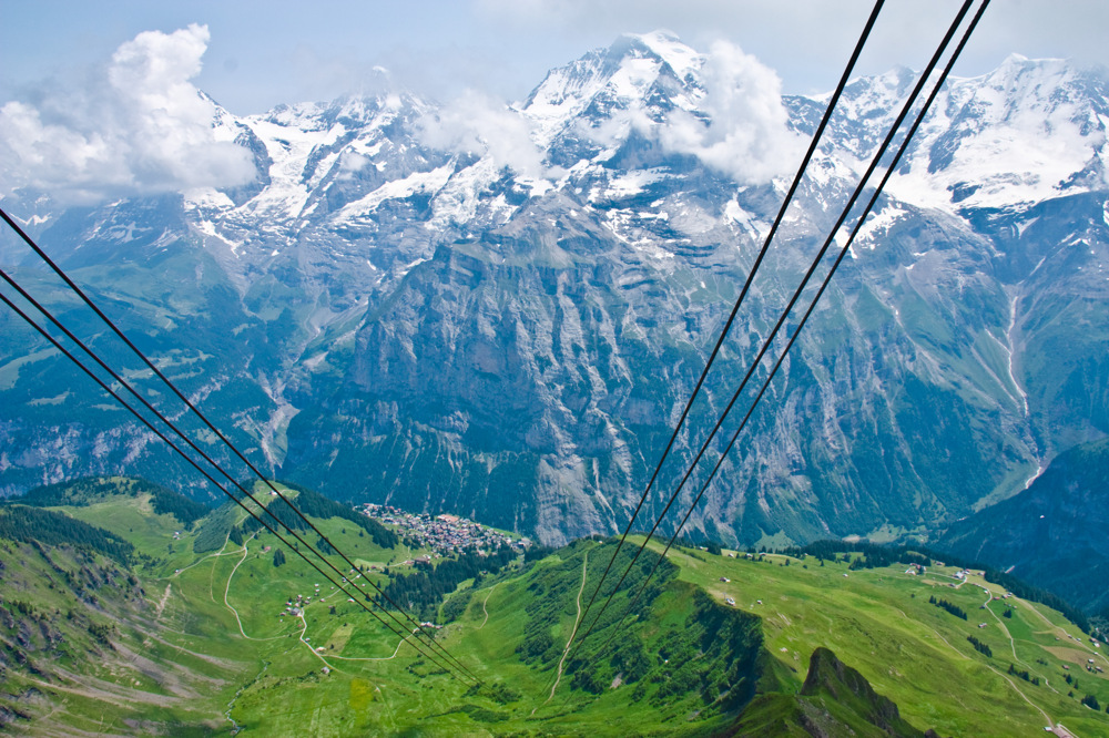 photoblog image CH43: View from Schilthorn Cable Car